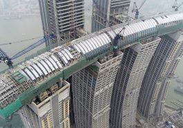 Çin'in 'Yatay Gökdeleni' yakında tamamlanıyor