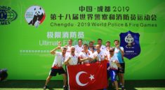 İstanbul itfaiyecileri Çin'de altın madalya kazandı!