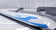 Çin'de 'Uçan Tren'in Parçalarının tanıtımı yapıldı!