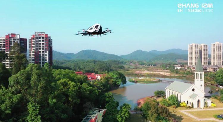 Çin'de sürücüsüz uçan taksiler hizmete başladı!