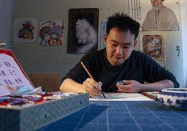 İstanbul'a yerleşen Çinli sanatçı Türk-İslam motiflerini Çin sanatıyla sentezliyor